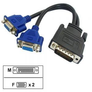 تبدیل ۵۹ پین DVI به ۲ پورت VGA