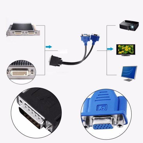 تبدیل 59 پین DVI به 2 پورت VGA