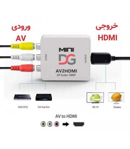 مبدل AV به HDMI مدل Mini