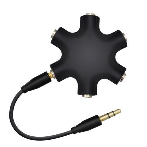 هاب 5 پورت صدا قابلیت پخش به صورت همزمان برای 5 هدفون