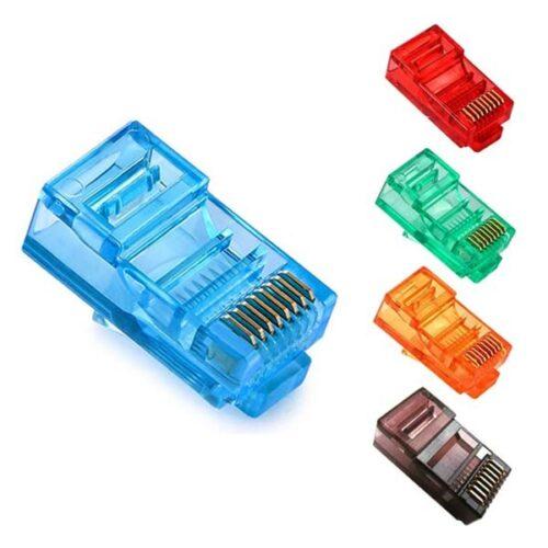 سوکت شبکه رنگی CAT5 LHD
