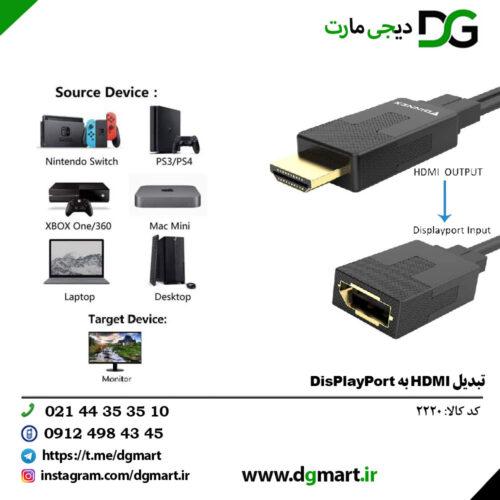 تبدیل HDMI به DIPSPLAY PORT