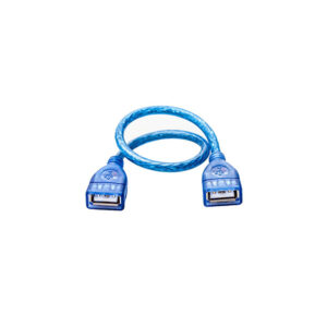 TRANSPARENT-USB-FEMALE-TO-FEMALE-50CM-EXTENSION-CABLE